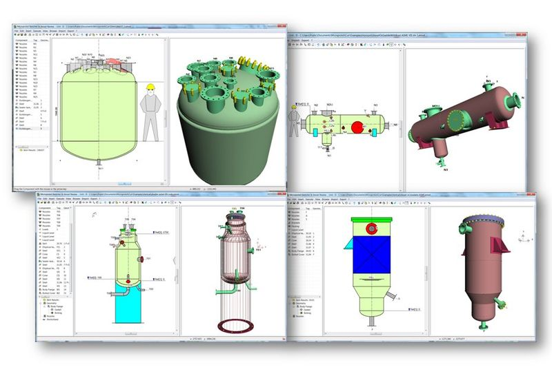 Bentley AutoPipe Vessel 3D софтуер за проектиране на съдове под налягане