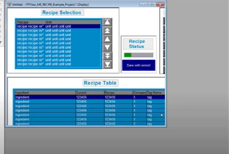 Създаване и конфигуриране на рецепти с RecipePlus във FactoryTalk от Rockwell Automation