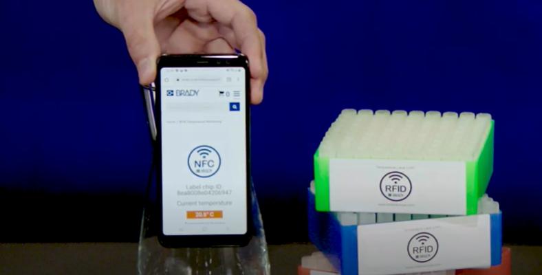 Tемпературни етикети с RFID технология от Brady