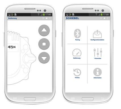 Мобилно приложение за управление на задвижващи механизми <strong>SCHIEBEL</strong>