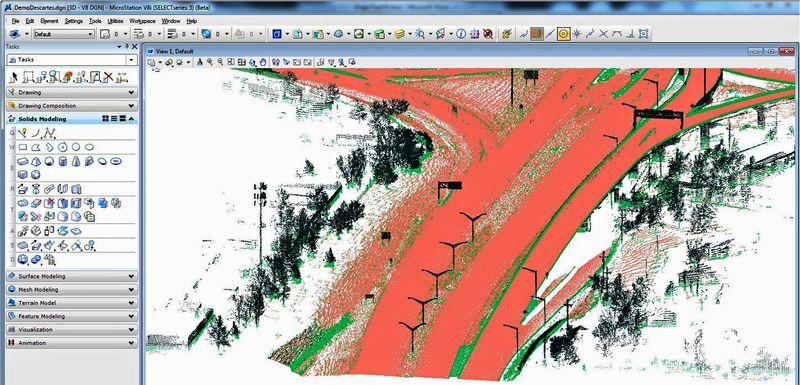 Инструменти за обработка на сканирани растерни изображения и 3D облаци от точки Descartes